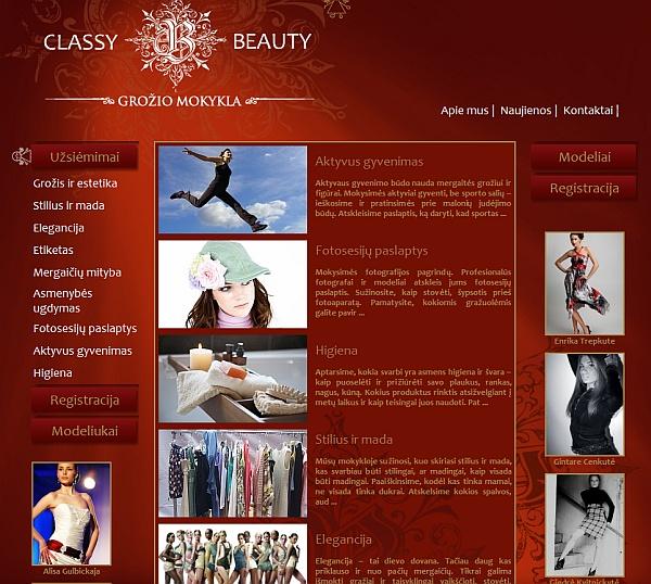 www.classybeauty.eu, grožio mokykla. pamokos, elegancija, eisena, modeliai, modeliukai