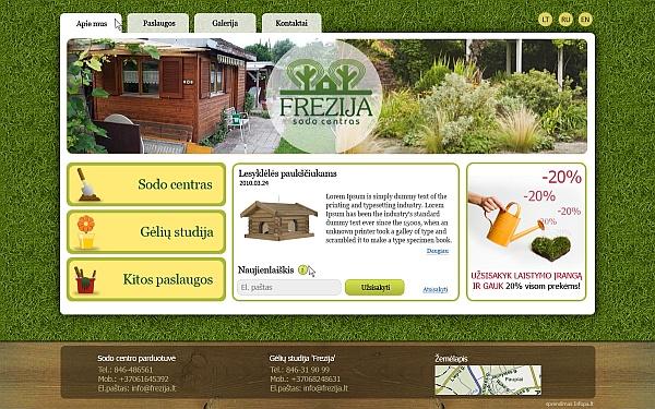 www.frezija.lt, sodo, darzo centras, pavesines, augalai, apzeldinimas
